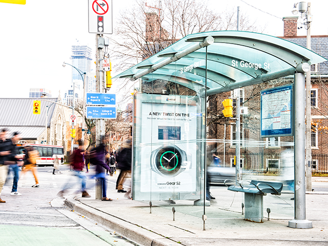 Astral Media Bus Shelter Digital Signage