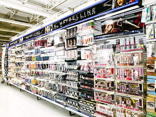 Walmart Maybelline Illuminated Merchandising Wall